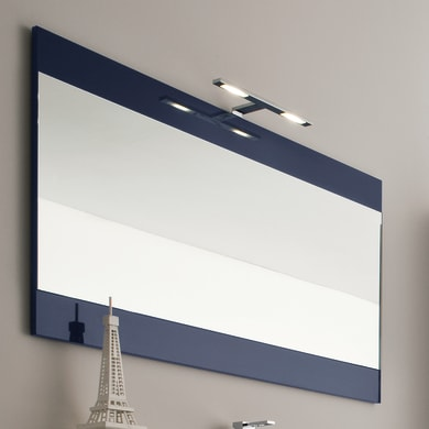 Specchio con cornice bagno rettangolare L 105 x H 70 cm
