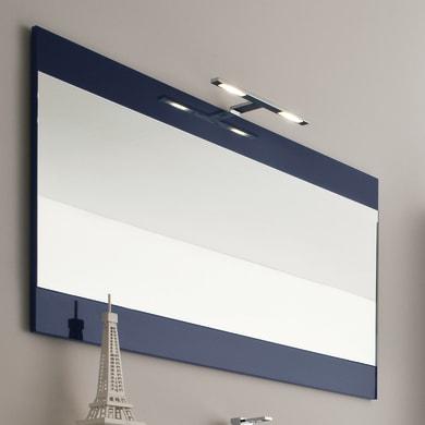 Specchio con cornice bagno rettangolare L 120 x H 70 cm