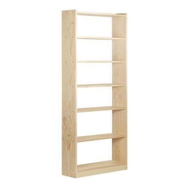 Scaffale in legno in kit Gala 7 ripiani L 80 x P 25 x H 216.7 cm naturale