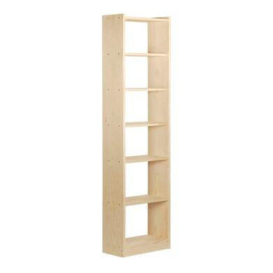Scaffale in legno in kit Gala 7 ripiani L 50 x P 25 x H 216.7 cm