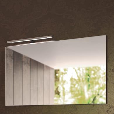 Specchio con cornice bagno rettangolare Shar L 140 x H 70 cm