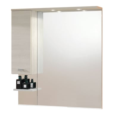 Specchio con faretto bagno rettangolare Rimini L 100 x H 108 cm