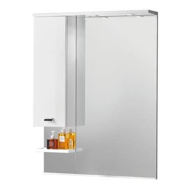 Specchio con faretto bagno rettangolare Rimini L 81 x H 108 cm