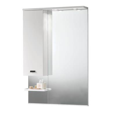 Specchio con faretto bagno rettangolare Rimini L 70 x H 108 cm