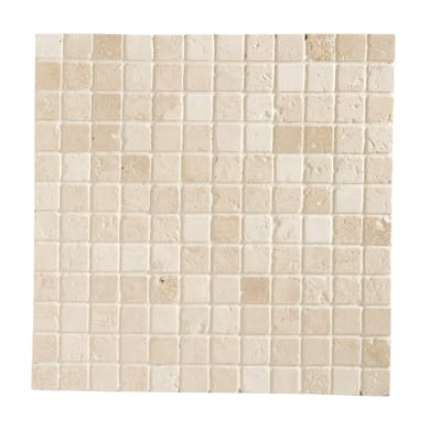 Mosaico Traverino Ivory H 30.5 x L 30.5 cm avorio
