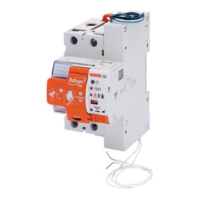 Riarmo automatico GEWISS GWD4817P 2 poli 25A 30mA A 3 moduli 230V