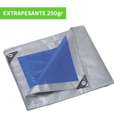 Telo in polietilene occhiellato L 6 m x H 10 cm 250 g/m²
