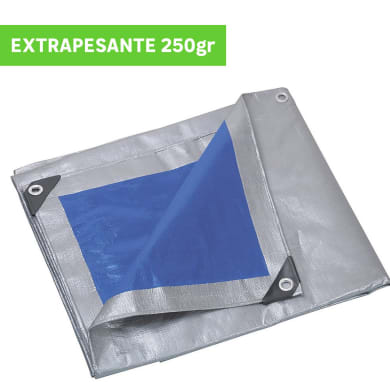 Telo protettivo in polietilene occhiellato L 4 m x H 500 cm 250 g/m²