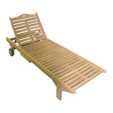 Lettino senza cuscino Carloforte in legno legno naturale