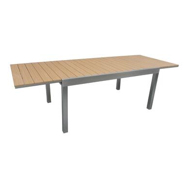 Tavolo da giardino allungabile rettangolare con piano in resina L 165/265 x P 100 cm