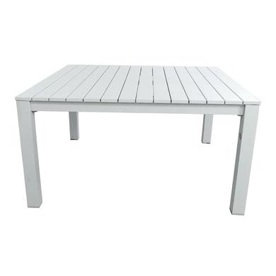 Tavolo da giardino quadrato con piano in alluminio L 145 x P 145 cm