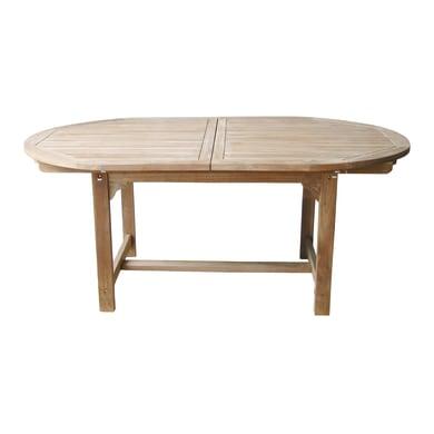 Tavolo da giardino allungabile allungabile ovale OT 503  con piano in Legno L 180 x P 120 cm