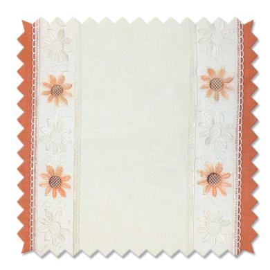 Tessuto al taglio Brunei arancione 90 cm