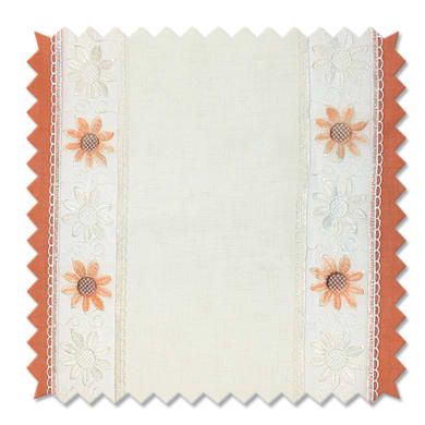 Tessuto al taglio Brunei arancione 45 cm