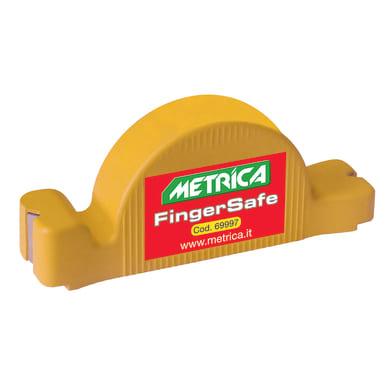 Magnete METRICA battichiodo Finger Safe in plastica giallo