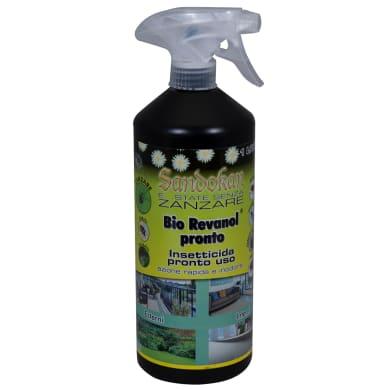 Repellente liquido per zanzare, cimice, calabroni, scarafaggi, formiche SANDOKAN Bio Revanol Pronto 1000 ml