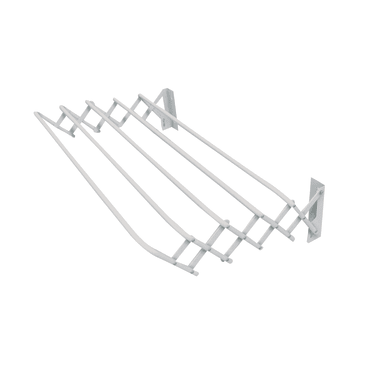 Stendibiancheria con fili estensibili da fissare a muro GIMI in acciaio bianco