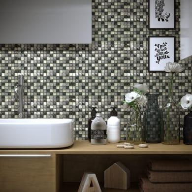 Mosaico Glitter Grigio H 30 x L 30 cm grigio acciaio