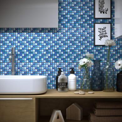 Mosaico Glitter Blu H 30 x L 30 cm blu