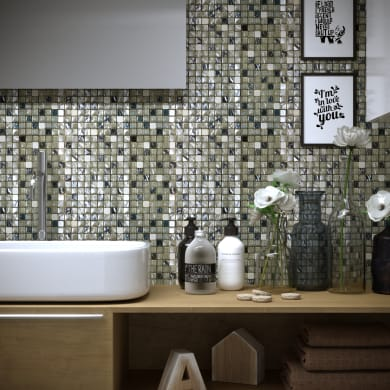 Mosaico Silver H 30 x L 30 cm argento