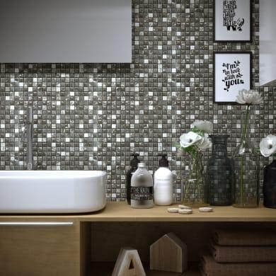 Mosaico Freedom Grey H 30 x L 30 cm grigio/argento