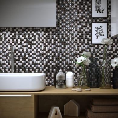 Mosaico Freedom Black H 30 x L 30 cm nero/argento
