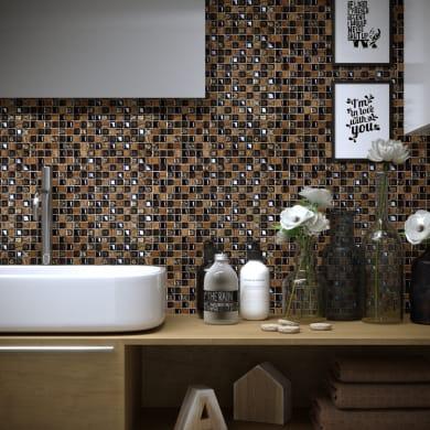 Mosaico Freedom Brown H 30 x L 30 cm marrone/rame