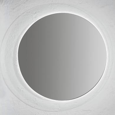 Specchio con illuminazione integrata bagno rotondo Soft L 80 x H 80 cm