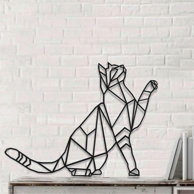 Decorazione da parete Metal Gatto Nero 50x37 cm