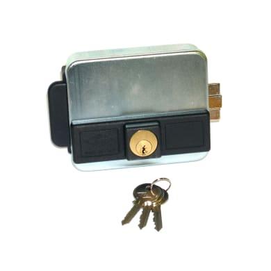 Serratura a vista a punto singolo per cancello o rete entrata 7 cm
