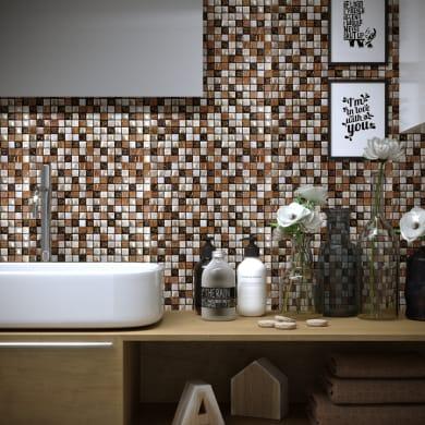 Mosaico Freedom Almond H 30 x L 30 cm beige/rame