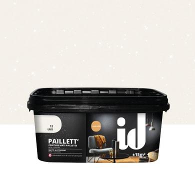 Pittura decorativa LES DECORATIVES Paillett 2 l bianco effetto paillette