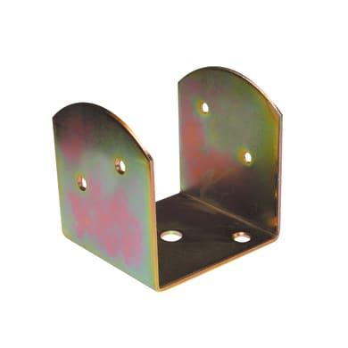 Staffa in acciaio zincato 80 x 70 mm