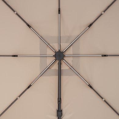 Telo di ricambio ombrellone sonora NATERIAL colore tortora 285 x 285 cm