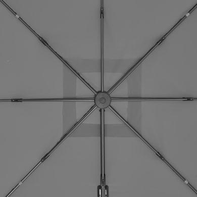 Telo di ricambio ombrellone aura NATERIAL colore antracite 286 x 286 cm