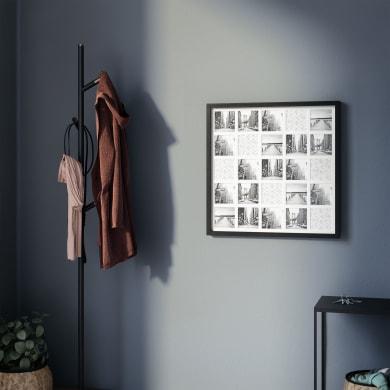 Cornice INSPIRE Milo per 16 fotografie 50X50 nero