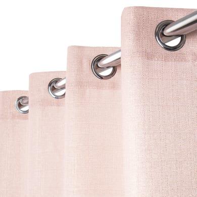 Tenda Lazaro rosa e oro anelli 140 x 280 cm