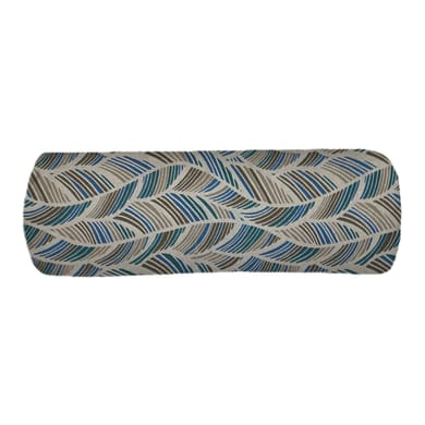 Cuscino Ecolibò blu e marrone 20x60 cm