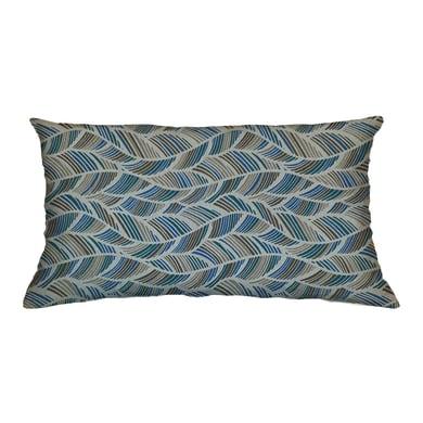 Cuscino Ecolibò blu e marrone 30x60 cm