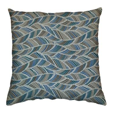 Cuscino Ecolibò blu e marrone 70x70 cm