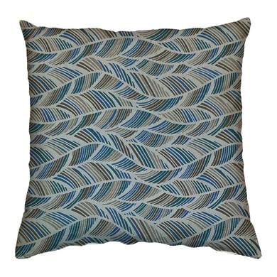 Cuscino Ecolibò blu e marrone 60x60 cm