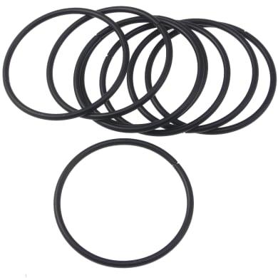 Anelli in metallo nero cromato , 8 pezzi