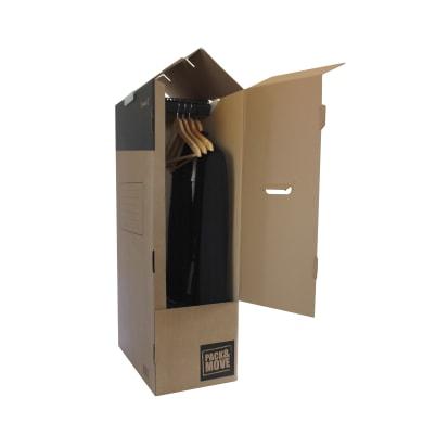 Scatola di cartone per vestiti 2 onde L 50 x H 100 x P 30 cm
