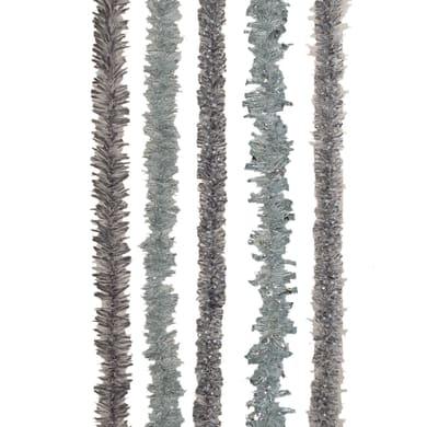 Ghirlanda natalizia grigio / argento L 200 cm , Ø 8 cm