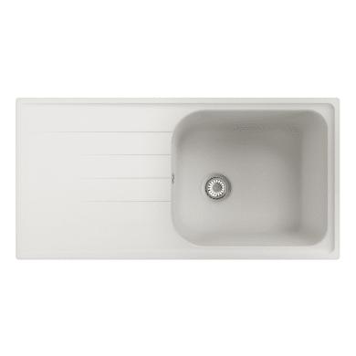 Lavello da incasso Elba 100 x 50 cm 1 vasca con gocciolatoio