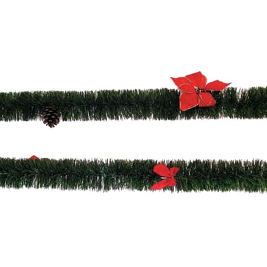 Ghirlanda natalizia verde L 200 cm , Ø 8 cm
