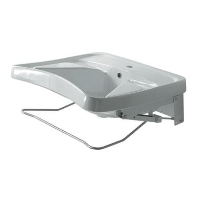 Lavabo per disabili Help rettangolare L 68 x P 59 cm in ceramica bianco