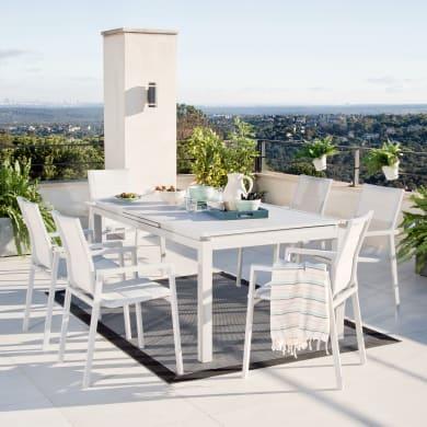 Tavolo da giardino allungabile  rettangolare Odyssea NATERIAL con piano in alluminio L 180