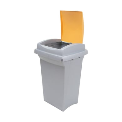 Pattumiera Recycling  manuale giallo 50 L