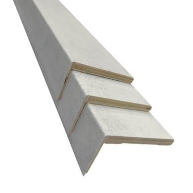 Kit coprifilo in compensato spazzolato cemento L 225 x P 10 x H 50 mm